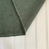 Organic Brushed Cotton Yak Wool Twill Flannel - Matcha Green