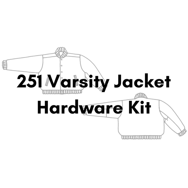 Folkwear Patterns 251 Varsity Jacket Hardware Kit - Antique Gold