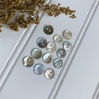 "5/16"" Natural Shell Button - Iridescent"