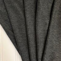 Japanese Tencel Wool Blend Knit Jersey in Dark Heather Gray