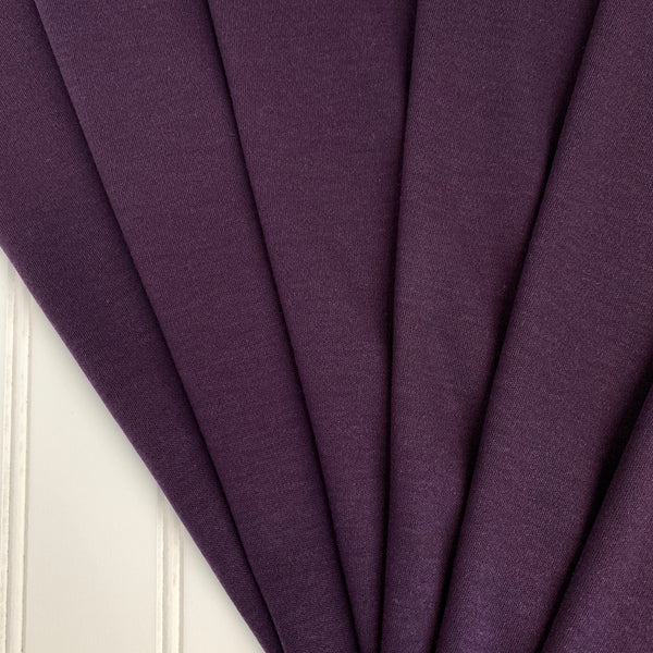 Japanese Tencel Wool Blend Knit Jersey - Eggplant Purple