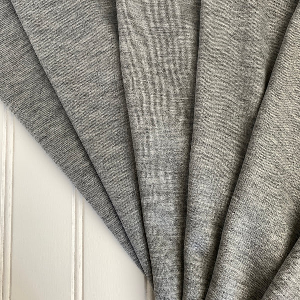Japanese Tencel Wool Blend Knit Jersey in Light Heather Gray