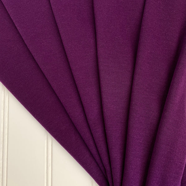 Japanese Tencel Wool Blend Knit Interlock in Royal Purple