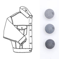 Kylie and the Machine - Denim Jacket Hardware Kit - Pewter