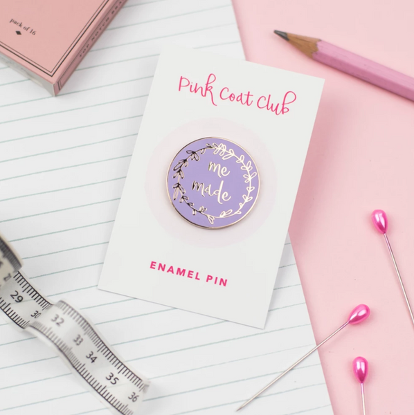Pink Coat Club Me Made Lilac Enamel Pin