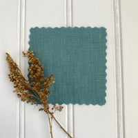 Midweight Linen (Soft) - Dusty Turquoise