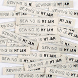 Kylie and the Machine - SEWING IS MY JAM Woven Sewing Labels
