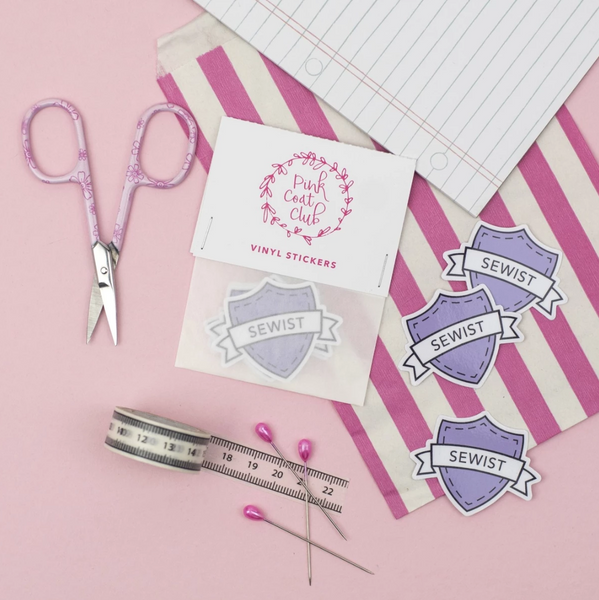 Pink Coat Club Lilac Sewist Stickers