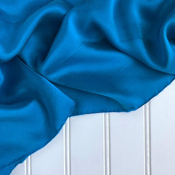 Silk Charmeuse - Blue