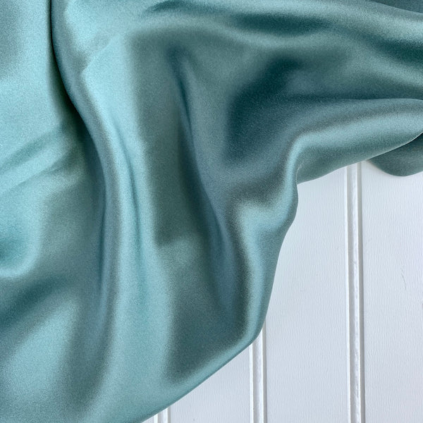 Silk Charmeuse - Gunmetal Blue
