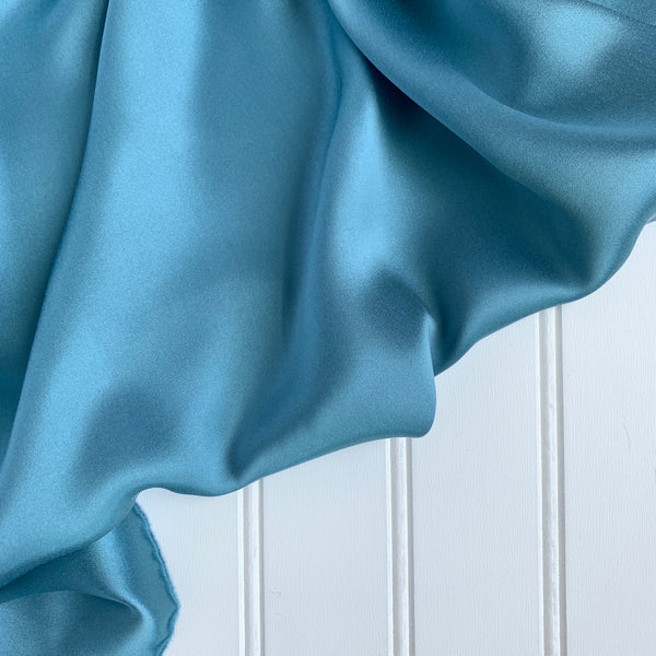 Silk Charmeuse - Powder Blue