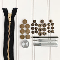 Twig & Tale Forester Coat Hardware Kit - Antique Gold
