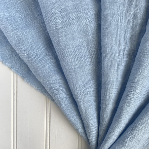 Midweight Washed Linen - Cotton Candy Blue