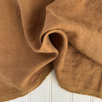 Midweight Washed Linen - Gingerbread