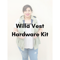 Laela Jeyne Patterns Willa Vest Hardware Kit - Antique Gold