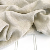 close-up of natural lebenskleidung linen jersey texture