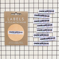 Kylie and the Machine - MADE WITH LOVE AND SWEAR WORDS Woven Sewing Labels