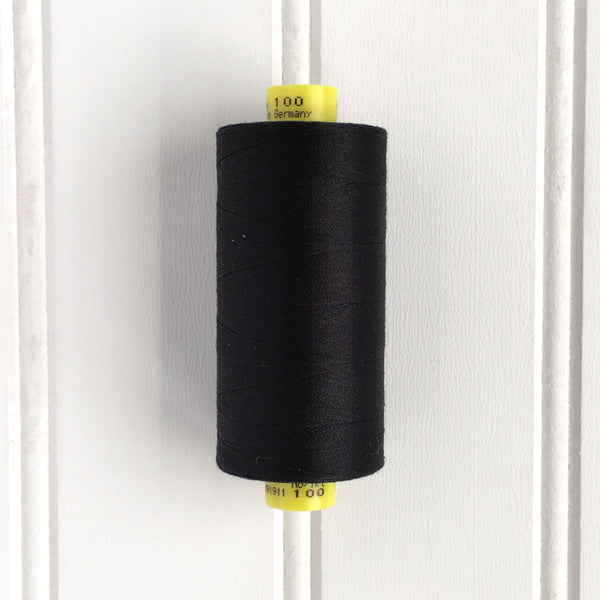 spool of gutermann mara 100 sewing thread in black