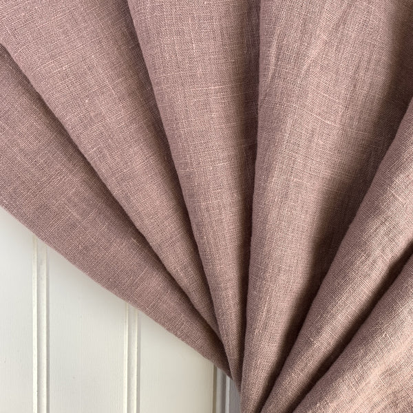 Midweight Washed Linen - Mauve