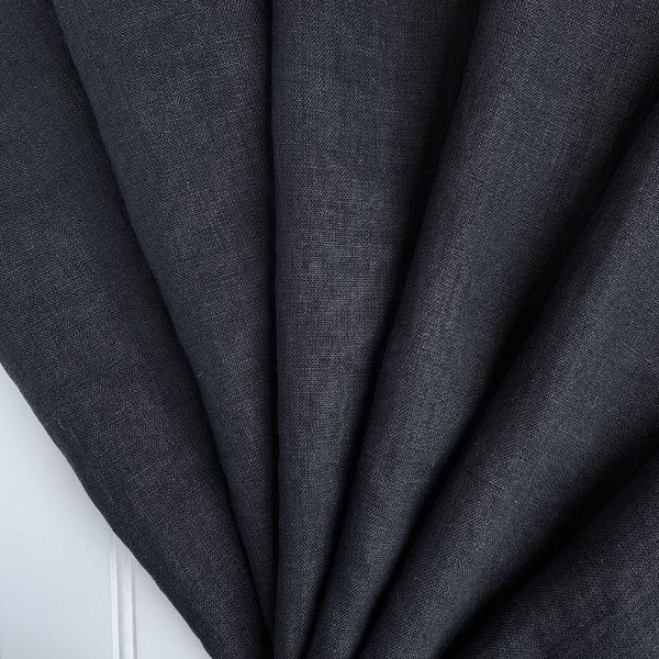 black licorice washed linen