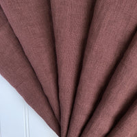 burnt red washed linen