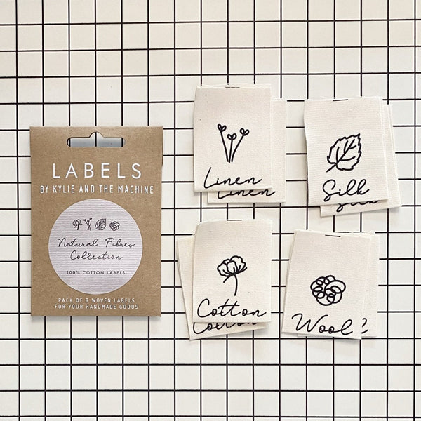 Kylie and the Machine - NATURAL FIBERS Woven Sewing Labels