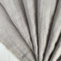 Midweight Washed Linen - Oyster Gray