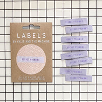 Kylie and the Machine - SECRET PYJAMAS Woven Sewing Labels