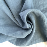 Midweight Washed Linen - Steel Blue