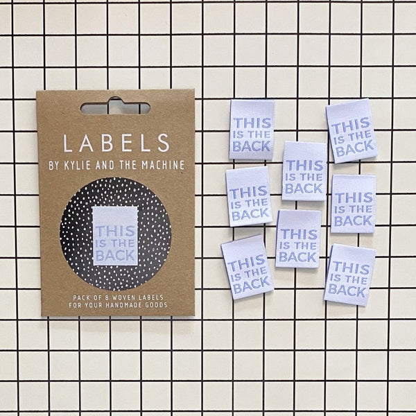 Kylie and the Machine - THIS IS THE BACK Woven Sewing Labels