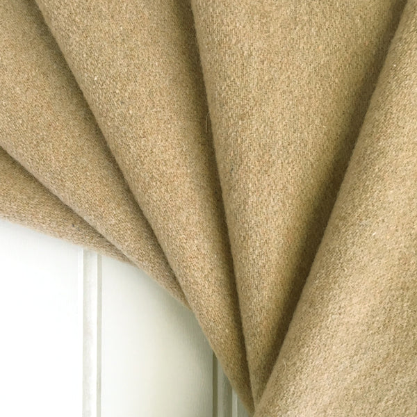 Tan Italian Wool Cashmere Fabric Folded