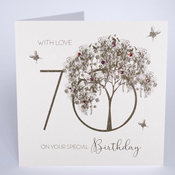 GS24 - 70th With Love Tree Birthday Card