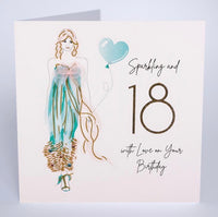 BG20 - 18th Sparkling and 18 Birthday Card