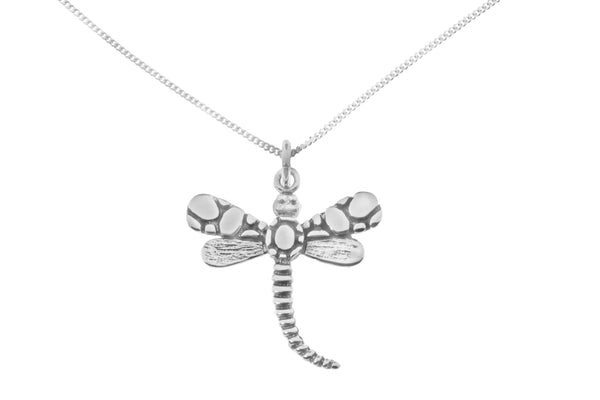 Darwin Dragonfly Necklace in Sterling Silver