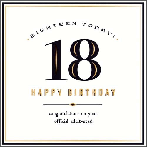 GH8133B - 18 Today Birthday Card