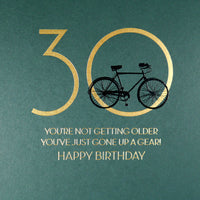 MN19 - 30th You've Just Gone Up a Gear Birthday Card