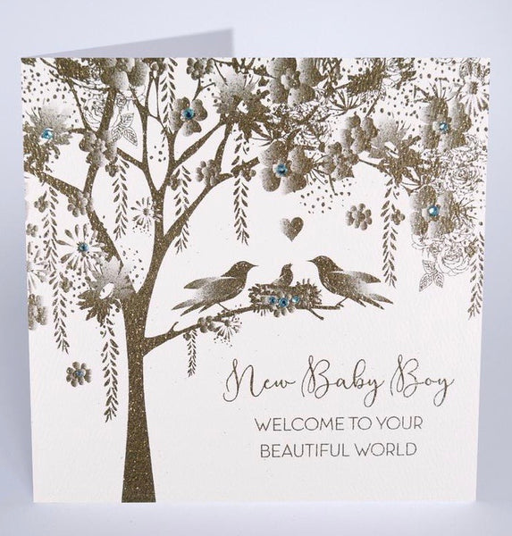 GS44 - Tree New Baby Boy Card