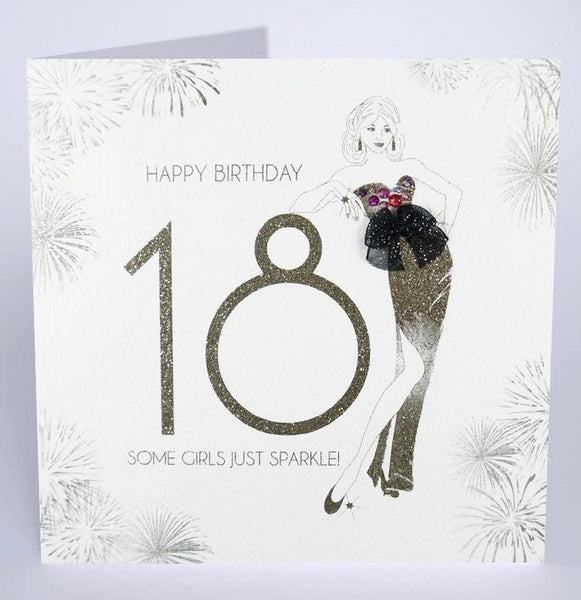 GS56 - 18th Some Girls Just Sparkle Birthday Card