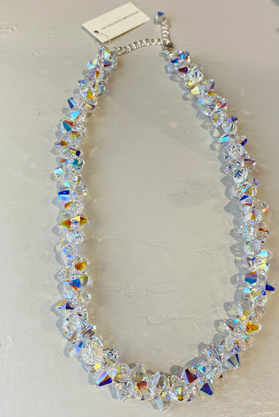Xilion Swarovski Crystal Necklace in AB