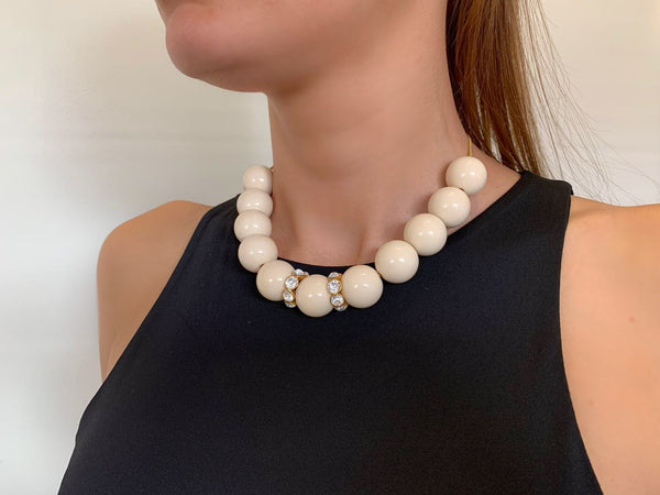 Charlie Chunky Necklace in Ivory