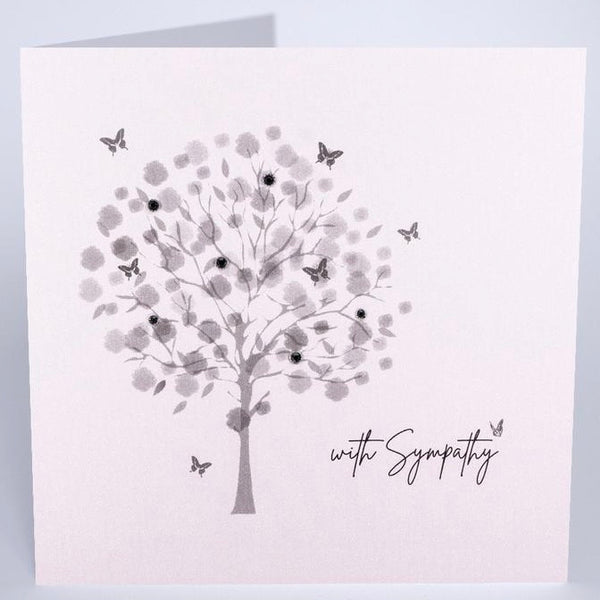 DPM15 - Tree Small With Sympathy Card