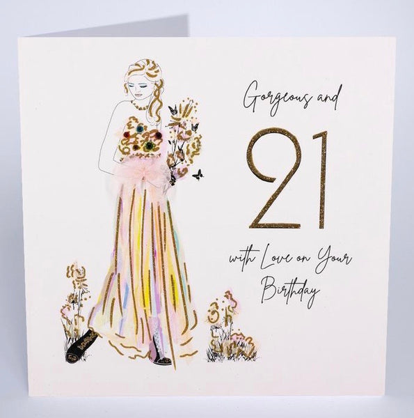 BG21 - 21st Gorgeous Birthday Card