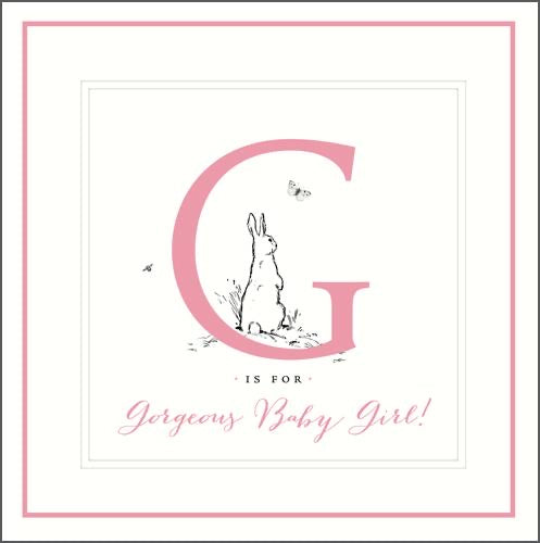 GH8108B - Rabbit New Baby Girl Card
