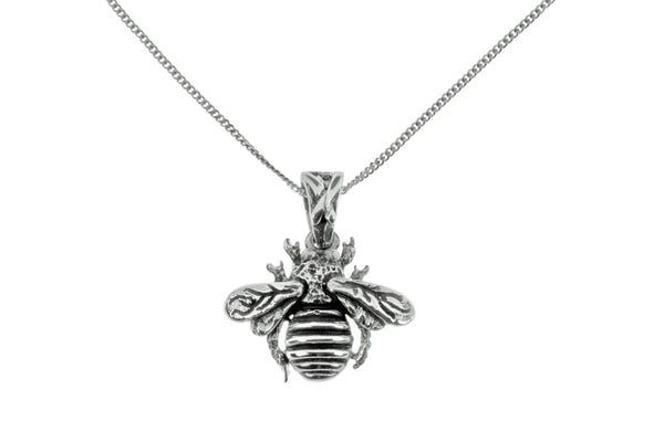 Bilbao Bee Necklace in Sterling Silver