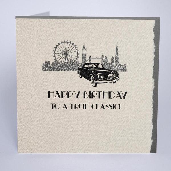 D25 - True Classic Car Birthday Card