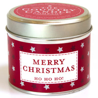 Merry Christmas Tin Candle