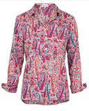 Rosemary Shirt in Pink Paisley