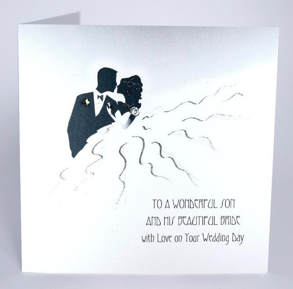 RT20 - Wonderful Son and his Beautiful Bride Wedding Day Card