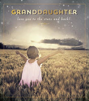 HD719C - Love You to the Stars and Back Granddaughter Birthday Card