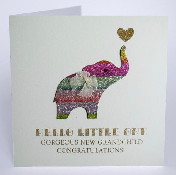NE9 - Elephant New Grandchild Card
